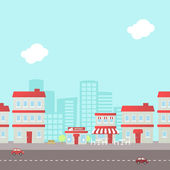 Retro city background — Stok Vektör