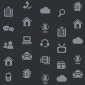 Seamless media icon background — Stock Vector