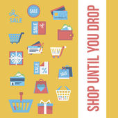 Shopping icons collection — Vector de stock