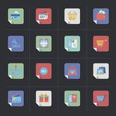 Shopping retro icons — Stock Vector
