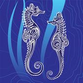 Seepferdchen — Stockvektor