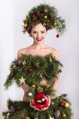 圣诞女人. — 图库照片