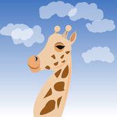 Illustration of cartoon giraffe — Stock Vector