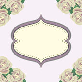 Frame with flower in purple background — Stock Vector