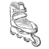 Patins desenho ilustração — Vetorial Stock