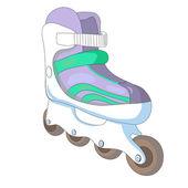 Ilustración vectorial de patines. — Vector de stock