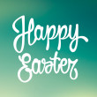 Happy easter hand drawn lettering. Vector — Stock Vector #42788963