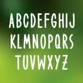 Hand drawn font type. Vector alphabet — Cтоковый вектор