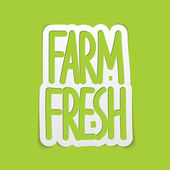 Farm fresh hand written lettering calligraphy. Vector — Stock Vector