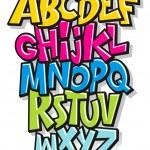 Cartoon comic font alphabet. Vector — Stock Vector #46239005