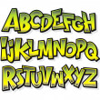 Cartoon comic font alphabet. Vector — Stock Vector #46239021