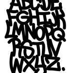 Hand written graffiti font alphabet. Vector — Stock Vector #48508513