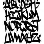 Hand written graffiti font alphabet. Vector — Stock Vector #48508631