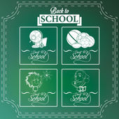 Set Of Chalkboards Draws With Space For Text — Stock Vector