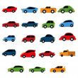 Vector Set Of Different Colorful Cars Isolated — Stock Vector #43102901
