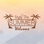 Vector Summer Card With Space For Text — Stock Vector