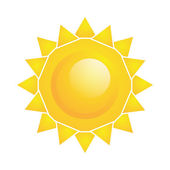 Vector Abstract  Sun Icon Isolated On White Background — Stock Vector