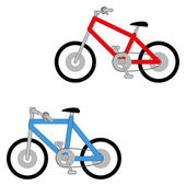 Vector Set Of Two Different Bikes Isolated — Stock Vector