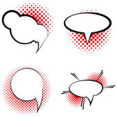 Set Of Different Comic Book Bubbles Isolated — Vecteur