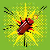 Comic Style Dynamite Isolated On Background — Vecteur