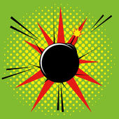 Comic Style Bomb Isolated On Background — Stock Vector