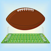 Football Field  Isolated On White Background — Stock Vector