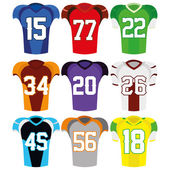 Football Uniforms Isolated On White Background — Stock Vector