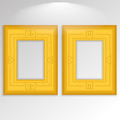 Stylish Golden Framework Isolated On Background  — Vecteur