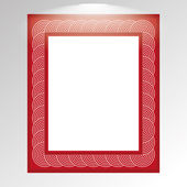 Stylish Red Framework Isolated On Background  — Stock Vector