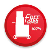 Icône livraison gratuite isolé sur fond blanc — Vecteur
