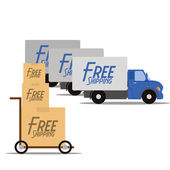 Free Delivery Icons Isolated On White Background — ストックベクタ