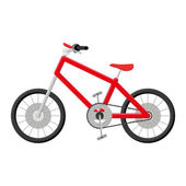 Bicycle Illustration Isolated On White Background — Vector de stock