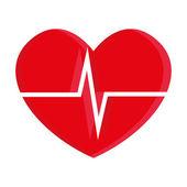 Illustrazione di cuore isolato su sfondo bianco — Vettoriale Stock