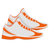 Sports Shoes Illustration Isolated On White Background — Vector de stock