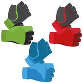 Fingerless Gloves Illustration Isolated On White Background — Vetorial Stock