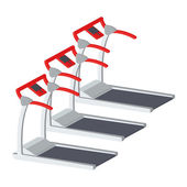 Treadmills Illustration Isolated On White Background — Vetorial Stock