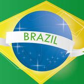 Banner i brasilien abstrakta illustrationen redigerbara — Stockvektor