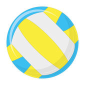 Volleyball ball Isolated On White Background — Stock Vector