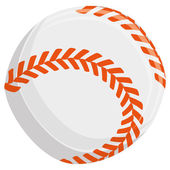 Baseball Ball Isolated On White Background — Stock Vector