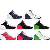 在白色背景上孤立的运动鞋 — 图库矢量图片