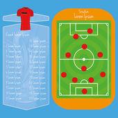 Terrain de soccer modifiable avec un espace pour le texte — Vecteur