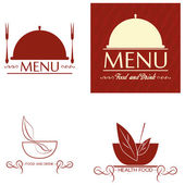 Restoran Menü kartları Tasarım Şablonu düzenlenebilir — Stok Vektör