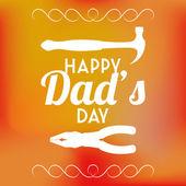 Vecteur jour modèle carte fond du père heureux — Vecteur