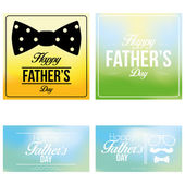 Vector Happy Father's Day Template Cards Background  — Vettoriale Stock