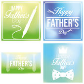 Vector Happy Father's Day Template Cards Background — Stock Vector