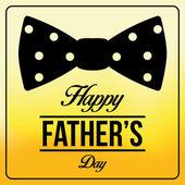 矢量快乐的父亲一天模板卡背景 — 图库矢量图片
