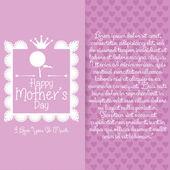 šťastné matky den šablony kartu pozadí — Stock vektor