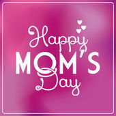 Gelukkig moeders dag sjabloon kaart achtergrond — Stockvector