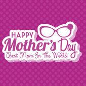 счастливые матери день шаблон карты фон — Cтоковый вектор