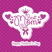 Happy Mothers's Day Template Card Background — Stock Vector